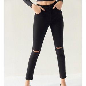 BDG Single Rip Black Skinny Jean